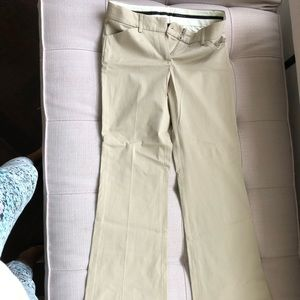 Theory bootcut beige pants